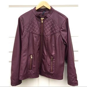 Outer Edge Faux Leather Jacket